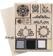 Flourish Rubber Stamp