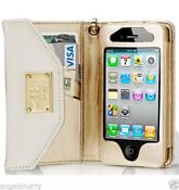 iPhone 4S White Leather Cover