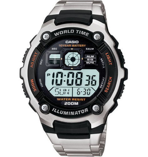 Casio Men's Multifunctional Digital Sport Watch Stainless Steel AE2000WD-1AV