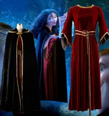 Rapunzel Mother Gothel Costume (Mother Gothel Costume Rapunzel Tangled Princess Cosplay Dress Cloak Set)