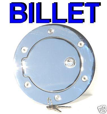 Locking Billet Chrome Fuel Door for 94-01 Dodge Ram 1500 94-02 Ram 2500 3500 Billet Locking Fuel Door