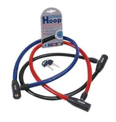 OXFORD BICYCLE CYCLE BIKE SECURITY SECURE HOOP CABLE LOCK - BLUE