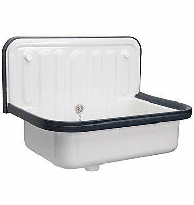 Alape Wall Mounted Small Bucket Utility Sink with White Finish