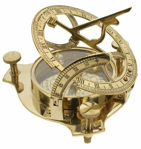 Brass Sundail Compass Nautical Antique Handmade Compass Christmas Day Gift