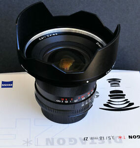 new Zeiss Distagon T* 18 3.5 ZF ultra wide angle lens for nikon