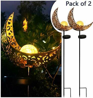 Solar Powered Garden Lights, 2 Pack Antique Brass 2 Pack-Sol