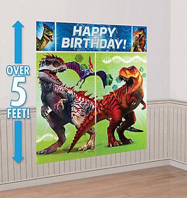 Dinosaur Scene Setter (DINOSAURS Scene Setter HAPPY BIRTHDAY party dinos wall decor Jurrasic World)