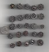 Vintage Steel Cut Buttons