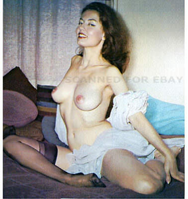 Model nude girl female woman photo big busty breasts legs pic print ALICE-nylons