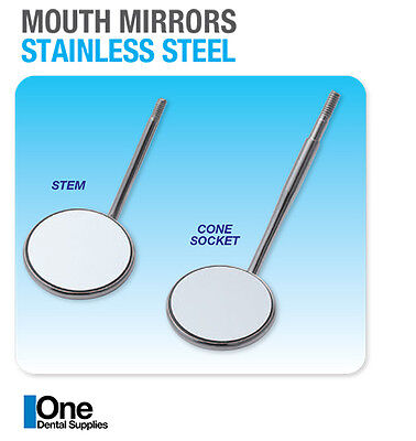 Dental Mouth Mirrors Plain Stem 10s No 4