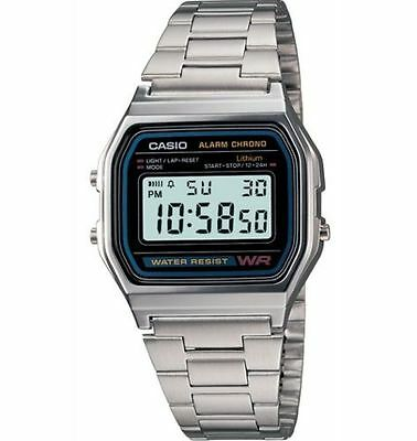 Casio 7 Year Battery Classic Chronograph Watch, Alarm, Date, A158WA-1