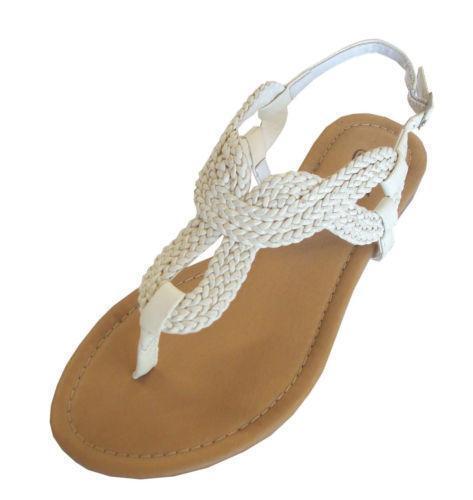 Braided T Strap Sandals Ebay