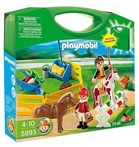 BNIB Playmobil 5893 COUNTRY Pony Farm Carry Case set