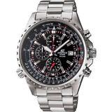 CASIO EF527D-1AV Edifice 100M Stainless Steel Chronograph Date Sport Watch $175