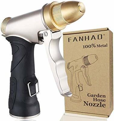FANHAO Garden Hose Nozzle 100% Heavy Duty Metal Spray Nozzle High Pressure Wa...