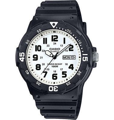 Casio MRW200H-7BV, Analog Watch, Black Resin Band, White Dial, Day/Date