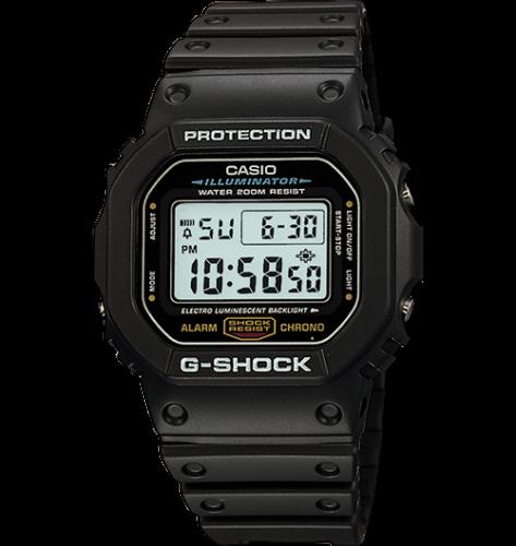 CASIO DW5600E-1V Mens Classic GSHOCK Black Resin Digital Chr