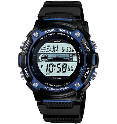 Casio Moon/Tide Watch, Solar, Black Strap, 5 Alarms, 100 Meter WR, WS210H-1AV