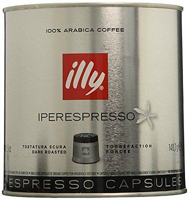 21-count Capsules (NEW illy iperEspresso Capsules Dark Roast Coffee 21 Count Capsules  6 pack)