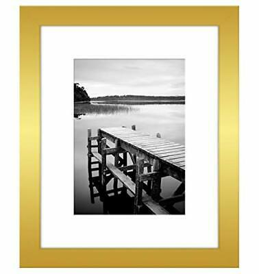Picture Frame in Gold Wood for Wall and Tabletop – 8×10, 11×14 Frames