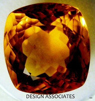 Madeira Citrine Gemstone - NATURAL MADEIRA CITRINE 10X10 MM CUSHION CUT GEMSTONE CLOSEOUT
