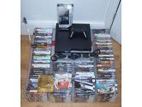 SONY PLAYSTATION PS3 ULTIMATE MEGA GAMING BUNDLE SET UP COMPLETE 116 GAMES EXTRA