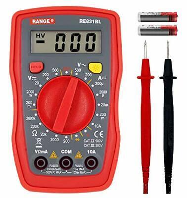 Range Digital Multimeter Volt Tester Volt Ohm Amp Meter With Continuity Diode