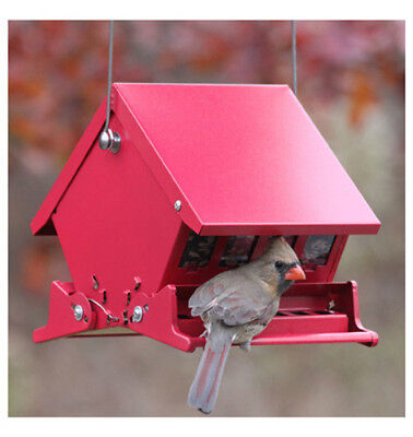 Audubon 7458 Mini Absolute II Squirrel Proof Hopper Bird Feeder, 4 Lbs