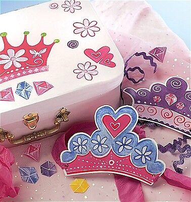 WALLIES PRINCESS DREAMS themed wall stickers 25 decals crown jewels tiara gems