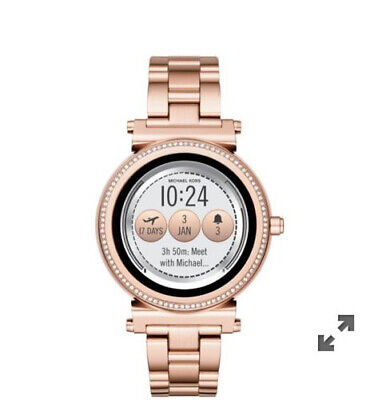 SEALED! MICHAEL KORS Access Sofie Rose Gold Touchscreen Smartwatch MKT5022
