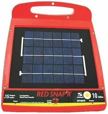 New Red Snapr Esp10m-rs Solar 10 Mile Electric Fence Controller Charger 6976161