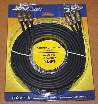 Av Link Komponenten Kabel, Dv6002 - 3M, Brandneu 9 Component-kabel