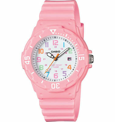 Casio LRW200H-4B2V, Women's Analog Pink Resin Band, 100 Meter, Date