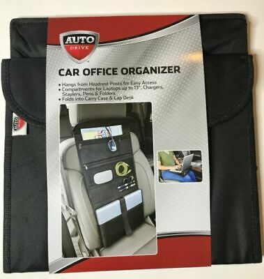 Auto Drive Car Office Organizer Folds Into A Headrest Carry Case Lap Desk
