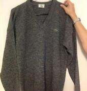Mens Lacoste V Neck Sweater