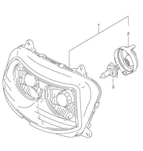 gsxr 1100 headlight  motorcycle parts
