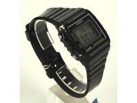 Casio W-215H-1A Black 50m Watch Unisex Digital Alarm Chronograph Resin Band SALE