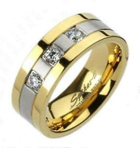 Mens Gold Titanium Wedding Bands