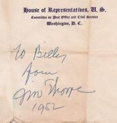 Jim Thorpe Autograph
