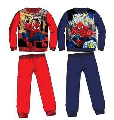 Disney Spiderman Jogginganzug Rot/Schwarz Trainingsanzug Sportanzug