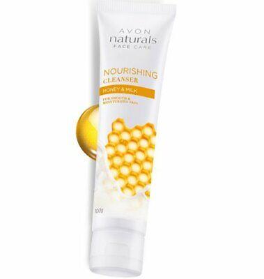 Branded Avon Naturals Honey & Milk Nourishing Cleanser 100 gm Free Ship