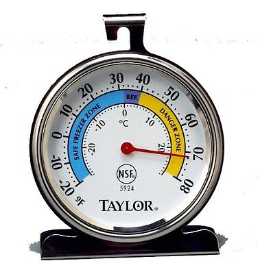 Taylor 5924 Outstanding Stainless Steel Freezer Refrigerator Thermometer