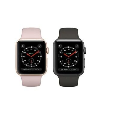 Apple Watch Series 3 42mm Aluminum GPS + GSM Cellular Smartwatch Great Condition