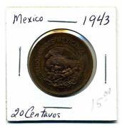 1943 20 Centavos