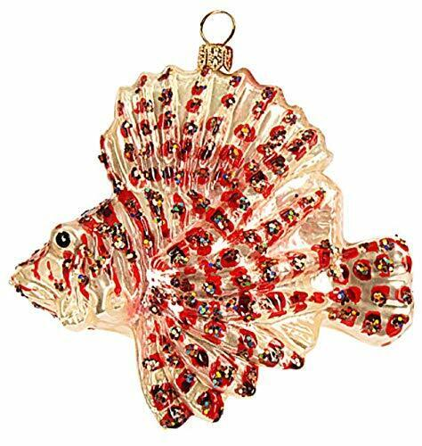 Lionfish Ocean Saltwater Sealife Tropical Fish Polish Glass Christmas 110205