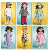 McCalls 18 Doll Patterns