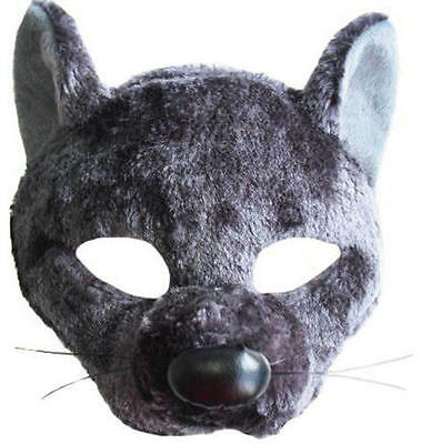 Rat Face Mask & Sound Animal Splinter Fancy Dress Costume Outfit New