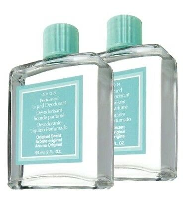 2x AVON Perfumed Liquid Deodorant Original Scent Long Lasting Fast Drying 2 Oz