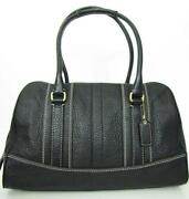 Coach PEBBLED Leather Handbag