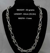 Mens 925 Silver Necklace